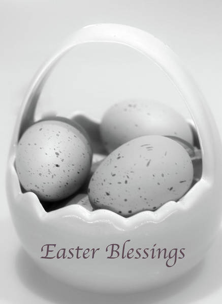 Wall Art - Photograph - Easter Blessings In B And W by Sherry Hallemeier