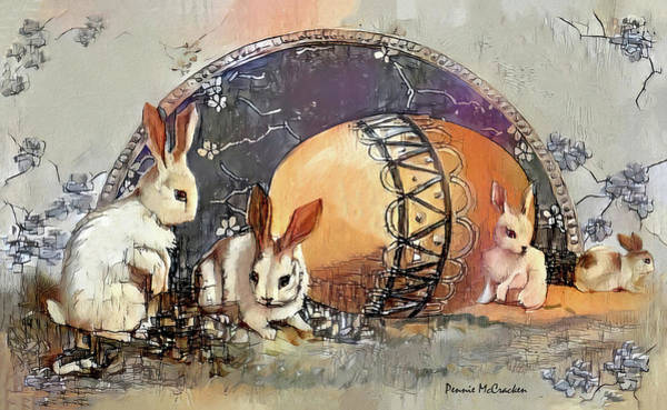 Digital Art - Easter Bunnies by Pennie McCracken