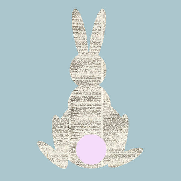 Wall Art - Digital Art - Easter Bunny Silhouette I by Sd Graphics Studio