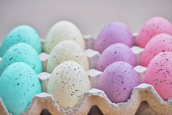 Photograph - Easter Eggs 32 #pastel by Andrea Anderegg
