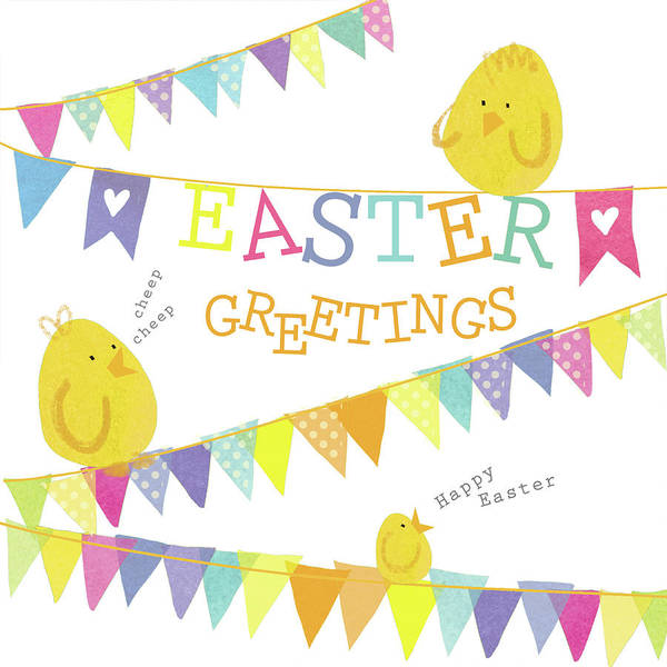 Wall Art - Digital Art - Easter Greetings by A.v. Art