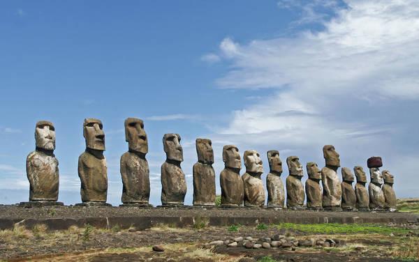 Collin Photograph - Easter Island - Moai In A Row In Ahu by © Frédéric Collin