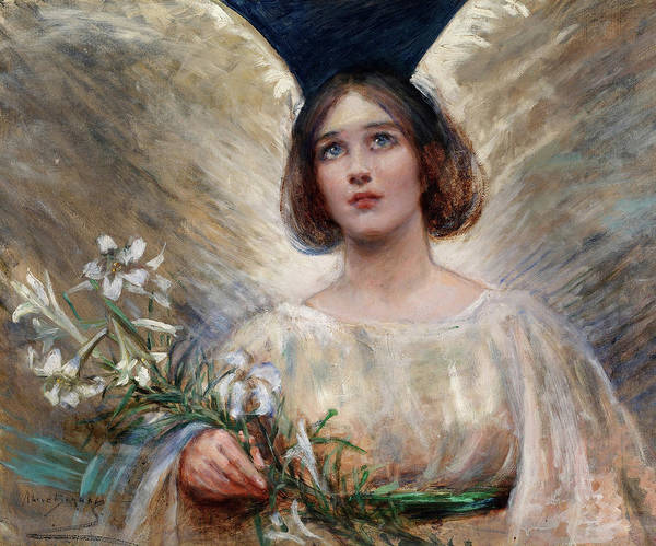 Wall Art - Painting - Easter Lilies by Alice Pike Barney
