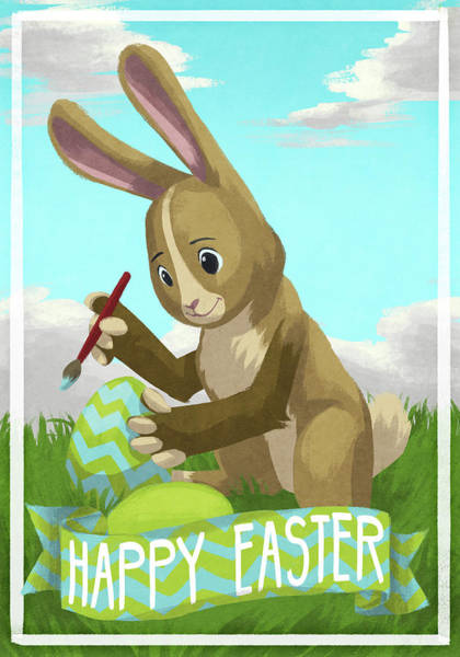 Wall Art - Digital Art - Easter Painting by Sd Graphics Studio