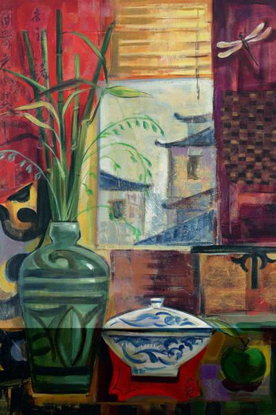 Bamboo Painting - Eastern Melody Crop by Silvia Vassileva