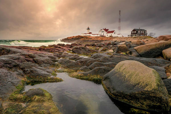 Photograph - Eastern Point Lighthouse At Sunset by Thomas Gaitley