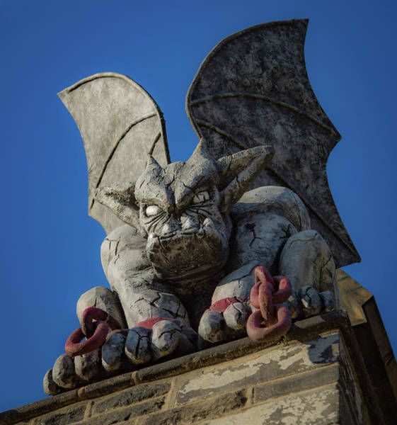 Wall Art - Photograph - Eastern State Gargoyle by Lora J Wilson
