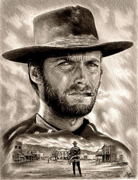 Wall Art - Drawing - Eastwood Sepia by Andrew Read