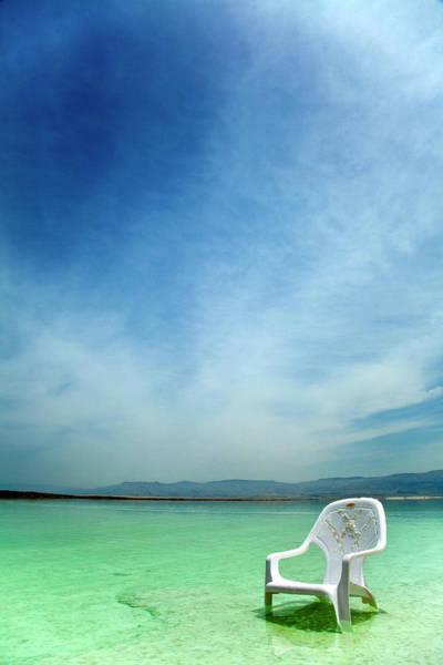 Armchair Photograph - Easy Chair At The Dead Sea by Eldadcarin