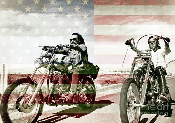 Dope Mixed Media - Easy Rider, Peter Fonda, Dennis Hopper by Thomas Pollart