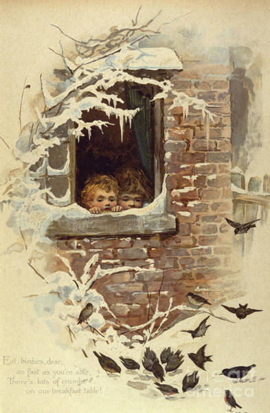 Wall Art - Painting - Eat Birdies Dear As Fast As You Are Able, Circa 1895 by English School