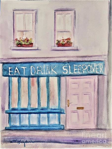Painting - Eat Drink Sleepover by Laurie Morgan