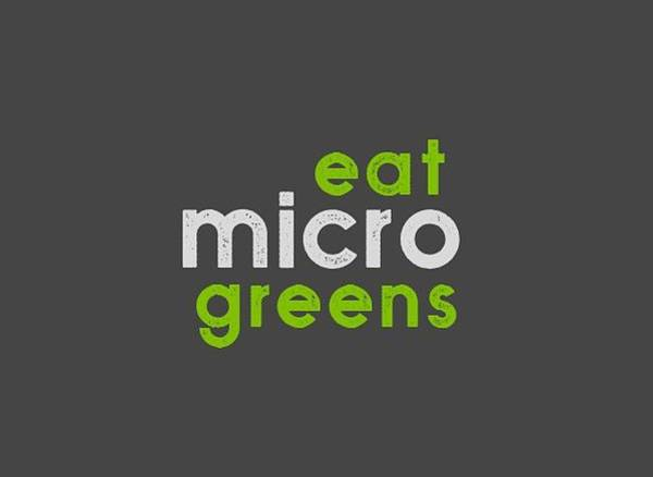 Drawing - Eat Microgreens - Green And Gray by Charlie Szoradi