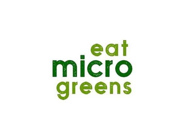 Drawing - Eat Microgreens - Two Greens by Charlie Szoradi