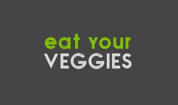 Drawing - Eat Your Veggies - Green And Gray by Charlie Szoradi