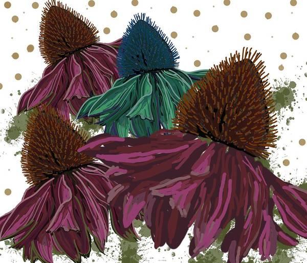 Echinacea Flower Skirts Art Print