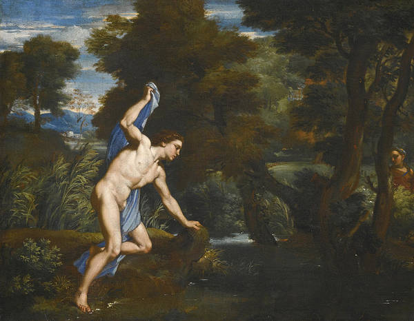 Wall Art - Painting - Echo And Narcissus by Attributed to Franciscus de Neve I