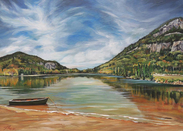 Echo Lake In Franconia Notch New Hampshire Art Print