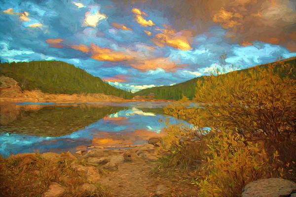 Wall Art - Photograph - Echo Lake Sunset by Lorraine Baum