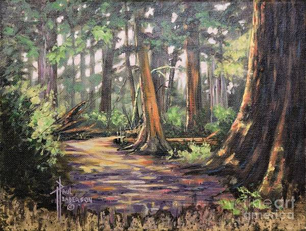 Cannon Beach Painting - Ecola State Park Trail by Paul Henderson