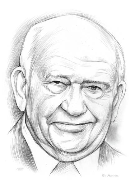 Wall Art - Drawing - Ed Asner by Greg Joens
