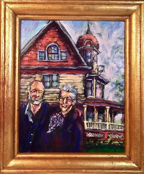 Painting - Ed, Beth, Home by Les Leffingwell