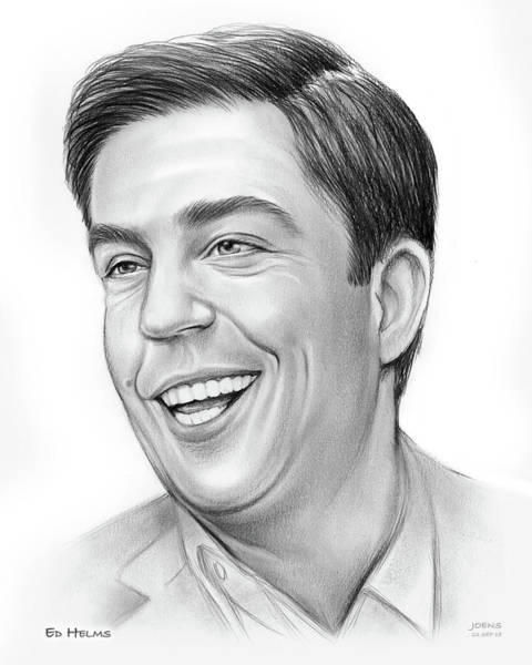 Wall Art - Drawing - Ed Helms by Greg Joens