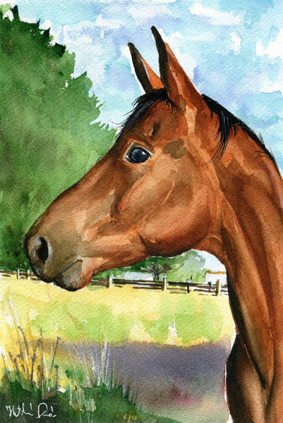 Painting - Eddie Horse Painting by Dora Hathazi Mendes