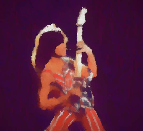 Wall Art - Painting - Eddie Van Halen by Dan Sproul