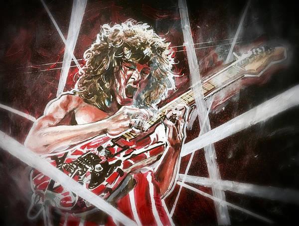 Painting - Eddie Van Halen by Joel Tesch
