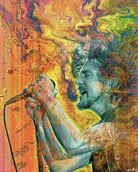 Wall Art - Painting - Eddie Vedder - Better Man by Bobby Zeik