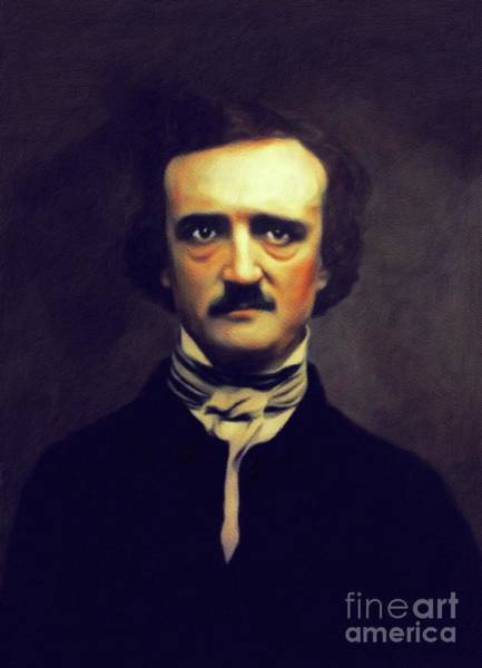 Wall Art - Painting - Edgar Allan Poe, Author by John Springfield