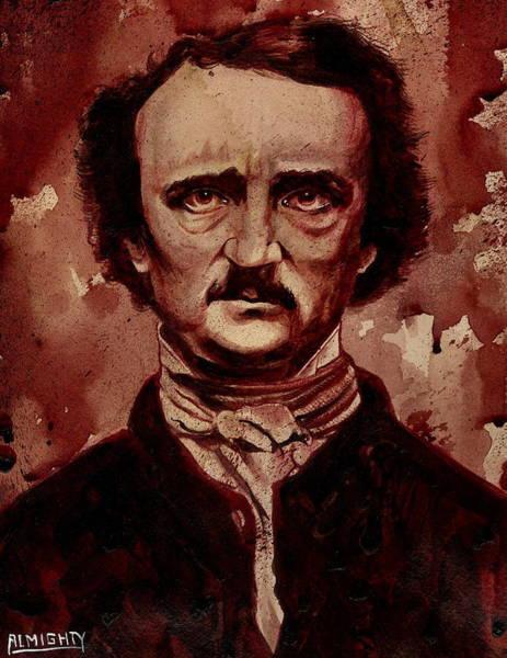 Serial Killer Painting - Edgar Allan Poe Dry Blood by Ryan Almighty