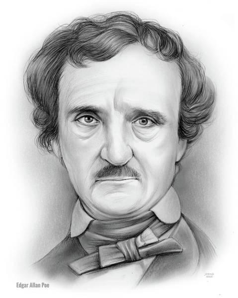 Drawing - Edgar Allan Poe by Greg Joens