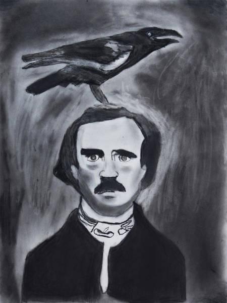 Drawing - Edgar Allen Poe Drawing by Nadija Armusik