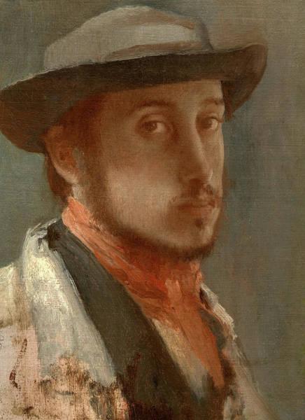 Wall Art - Painting - Edgar Degas, Self Portrait, 1858 by Edgar Degas