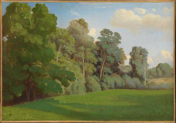 Wall Art - Painting - Edge Of A Wood Ca 1850 by Theodore Caruelle d Aligny