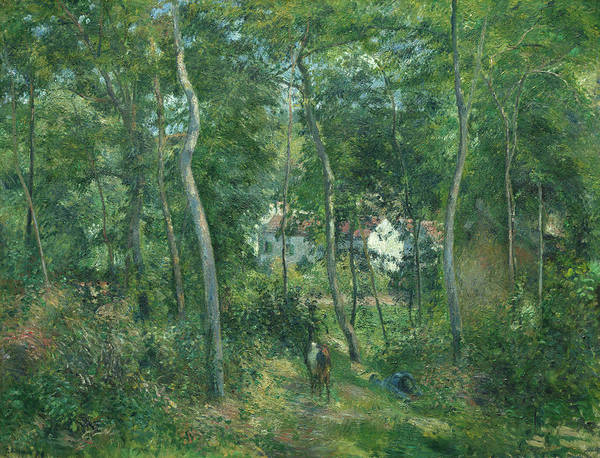 Backwoods Wall Art - Painting - Edge Of The Woods Near L'hermitage, Pontoise, 1879 by Camille Pissarro