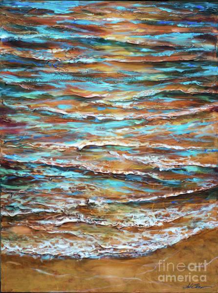 Painting - Edge Of Tide Sunset by Linda Olsen