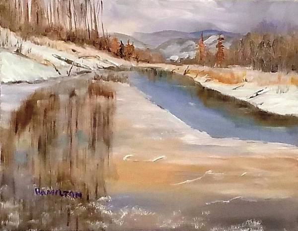 Painting - Edge Of Winter by Larry Hamilton