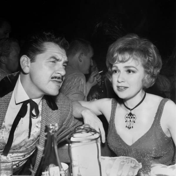 Husband Photograph - Edie Adams And Ernie Kovacs by Michael Ochs Archives