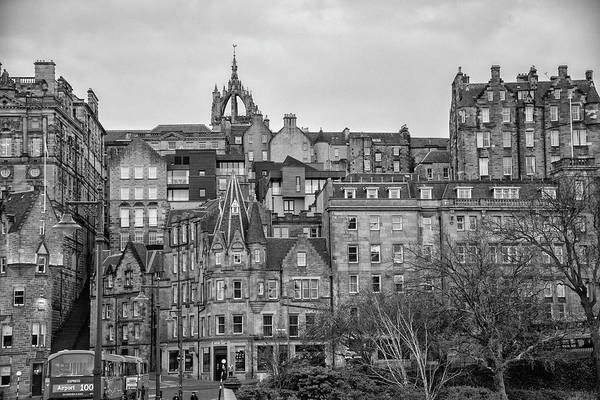 Wall Art - Photograph - Edinburgh Scotland - Old Town In Black And White by Bill Cannon