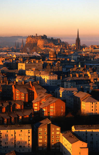 Old Photograph - Edinburgh Castle And Old Town Seen From by Lonely Planet