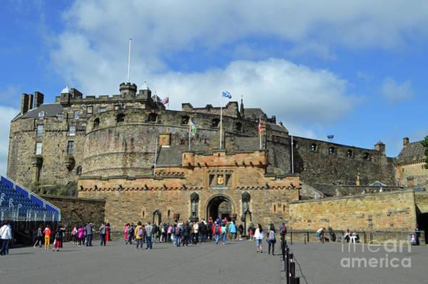 Castles Of Scotland Digital Art - Edinburgh Castle by Eva Kaufman