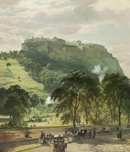 Wall Art - Painting - Edinburgh Castle From Princes Street by Samuel Bough