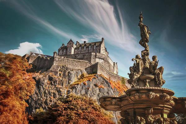 Castle Garden Photograph - Edinburgh Castle Historic Scotland  by Carol Japp