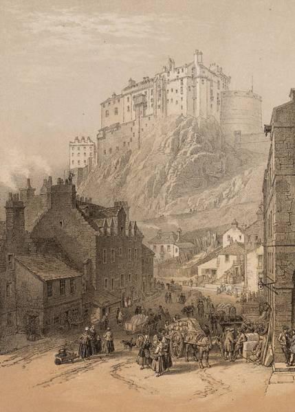 Castles Of Scotland Digital Art - Edinburgh Castle by Hulton Archive
