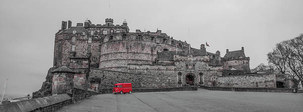 Photograph - Edinburgh Castle - Scotland Selective Color by Bill Cannon