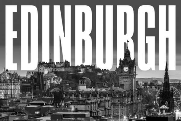 Castles Of Scotland Digital Art - Edinburgh Cityscape by David Richardson