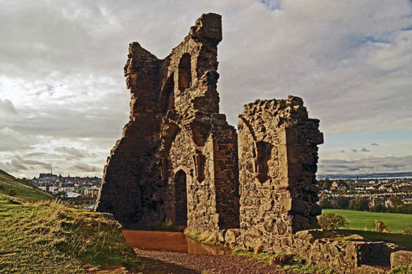 Photograph - Edinburgh. St. Anthony's Chapel, Holyrood Park by Lachlan Main